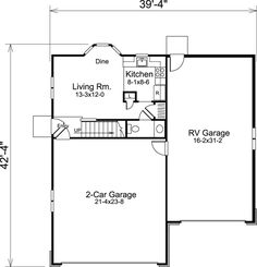 Cabin Cottage Country Craftsman Garage Plan 95827