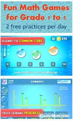 Free math practice app for grade 1 to 5 offers 2 free practices a day, parents can track each child's performance and progress.