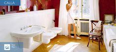 Ideal Standard Calla  Die Eleganz antiker Linien, gepaart mit der Harmonie klassischer Formen: Die Calla Kollektion präsentiert sich in einem eleganten und sehr stilvollen Gewand. Mit einer Hommage an das Art déco der 30er Jahre. Erleben Sie die zeitlos schöne Formensprache dieses modernen Klassikers: von der luxuriösen Badewanne über die eleganten Waschtische bis zum komfortablen WC und Bidet. Ob klassisch inszeniert oder harmonisch mit modernen Accessoires kombiniert: Calla steht für… Ideal Standard, Calla, Art Deco, Elegant, Modern, Bathtub, Bathroom, Classic, Nice Asses