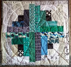 Roulette: A Mini Quilt by Jessica at Quilty Habit