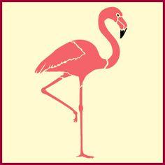 flamingo stencil - Google Search