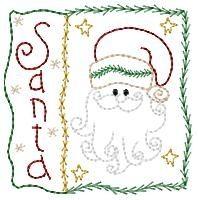Santa Square Sampler - 4x4 | Christmas | Machine Embroidery Designs | SWAKembroidery.com Homeberries Designs