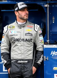 Jimmie Johnson Photos Photos - Jimmie Johnson, driver of the #48 Kobalt Chevrolet, stands in the garage area during practice for the NASCAR Sprint Cup Series Bass Pro Shops NRA Night Race at Bristol Motor Speedway on August 19, 2016 in Bristol, Tennessee. - Bristol Motor Speedway - Day 2