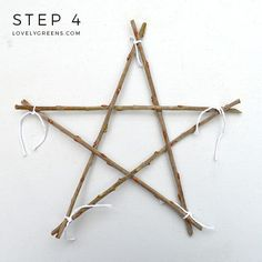 Nature Crafts How to weave a Simple Twig Star -- all you need are five twigs and string. Make your own natural Christmas ornaments or a fun nature craft with the kids Natural Christmas Ornaments, Christmas Star, Simple Christmas, Handmade Christmas, Twig Crafts, Nature Crafts, Christmas Crafts, Christmas Decorations, Wood Crafts