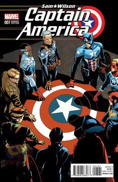 """Captain America: Sam Wilson"" #7 Captain America of All Eras variant cover by Chris Sprouse"