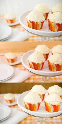 Orange Creamsicle Cupcakes With Orange Salted Caramel Buttercream (from Cupcake Project - cupcakeproject.com)