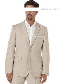 6818a24dcad77 Big  amp  Tall Linen Pinstitched Blazer Linen Blazer