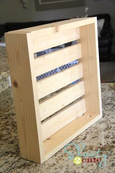 Video tutorial!  How to make crate shelves from furring strips for under five bucks.