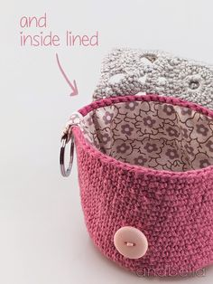 Anabelia craft design: DIY: MakeUp crochet pouches