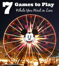 7 Games to Play While Waiting in Line | Amusement Park Lines