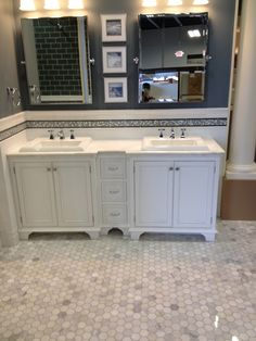 Wall Tile Soho White Matte Subway With Carerra Marble Accent Band Floor C Bath Fixtures Pinterest Tiles And Marbles