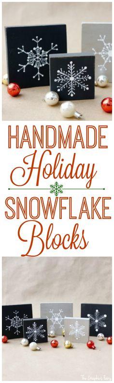 Homemade Christmas Decorations - Snowflake Blocks - The Graphics Fairy