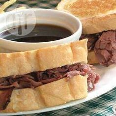 Hot Roast Beef Rolls with Beef Consomme @ allrecipes.com.au