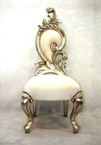 Renaissance short backed chair Renaissance, Golden Mirror, High Back Dining Chairs, White Carpet, Victorian Furniture, Wooden Flooring, Earth Tones, Chandelier, Future
