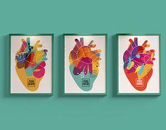 Graphic Design Branding, Art Direction, Hearts, Behance, Creative