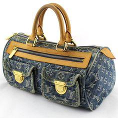 acc08e1332 Sac à main Louis Vuitton Neo Speedy 30 denim bleu monogram