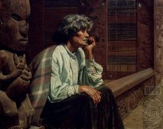 Darby and Joan [Ina Te Papatahi, Ngapuhi] - Collections Online - Museum of New Zealand Te Papa Tongarewa New Zealand Art, Nz Art, Maori Art, Kiwiana, Cultural Identity, Portrait Art, Portraits, Life Drawing, Beautiful Paintings