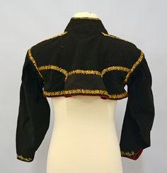 DigitaltMuseum - Trøye ca 1800 Bell Sleeves, Bell Sleeve Top, Outerwear Women, Museum, Crop Tops, Lady, Jackets, Regency, 19th Century