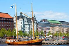 Waterfront Helsinki, Finland by Andrey Bodrov Helsinki, Rail Europe, Destinations, Vacation Planner, Vacation Travel, Alvar Aalto, Day Tours, Walking Tour, Heron