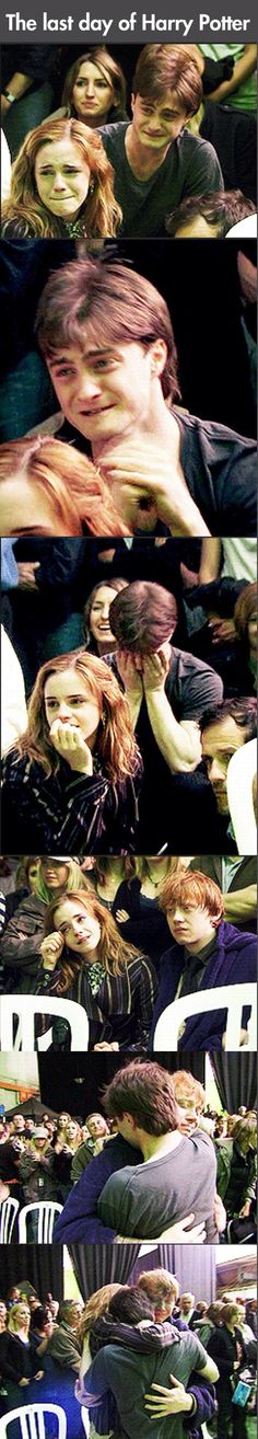 The last day of filming harry potter.... :')