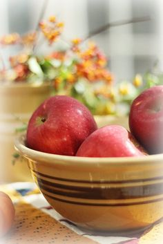 Apples in yellow ware