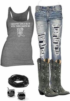 Love love love these jeans cute country outfits, country wear, western outfits, cowgirl Country Style Outfits, Country Girl Style, Country Fashion, My Style, Cowgirl Outfits, Western Outfits, Western Wear, Cowgirl Clothing, Cowgirl Fashion