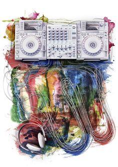 dj mixer. #djculture #musicart http://www.pinterest.com/TheHitman14/dj-culture-vinyl-fantasy/
