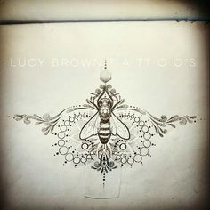 Tattoo design - sternum with bee