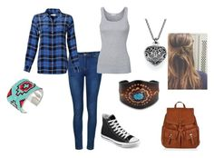 """""""Untitled #136"""" by weirdobutfun ❤ liked on Polyvore featuring Ally Fashion, Equipment, Splendid, Converse, Accessorize, Bling Jewelry and M&F Western"""