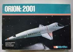 """US AIRFIX model kit 70060. ORION:2001 Space Shuttle from the movie """"2001:A SPACE ODYSSEY"""".  1979.  parts mint & factory sealed.  box excellent but dented. usairfix70060orion-dent.JPG (619×443)"""