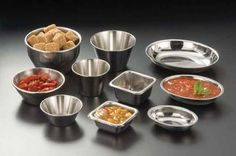 Stainless Steel Sauce Cups: All stainless steel - a beautiful reflection.