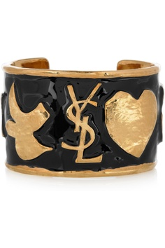 Yves Saint Laurent  Ycons enameled gold-plated cuff  £365