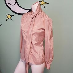 Vintage Amanda Blouse This vintage blouse in perfect condition. It is a soft rose color. It is soft and silky, light and classic.Timeless blouse. Amanda Tops Blouses