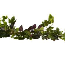 Ashland Classic Greenery Maple Ivy/Wandering Jew Garland