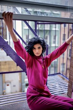 """""""Role Model"""" Bhumika Arora in Elle India April 2017 by R. Burman   Styling: Malini Banerji, Hair: Matthieu Tuozzoli, Make-Up by Campbell Ritchie."""