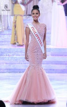 28 Stunning Dresses From Miss World 2013 Miss Philippines Megan Young, Miss World 2013, Miss Philippines, Philippines Fashion, Filipiniana Dress, Best Gowns, Filipina Beauty, Pink Gowns, Glamour
