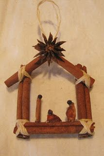 cinnamon stick nativity...I see a project with kids!