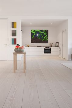 Flooring and kitchen