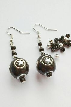 Hey, I found this really awesome Etsy listing at https://www.etsy.com/uk/listing/467047702/black-star-earrings-star-earrings-dangle