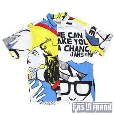 Jams Pop Art Comic Shirt via F As In Frank (2425 Main Street) Comic Styles, Vintage Outfits, Vintage Clothing, Boyfriend Material, Collar Shirts, Pop Art, Comic Art, Button Up Shirts, Comics