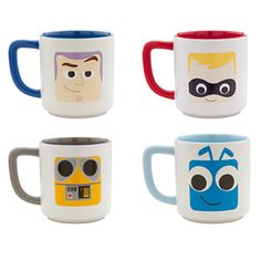 #Disney #Pixar Mug Collection Set 2 | Drinkware | Disney Store (Buzz Lightyear, Dash, WALL-E and Flik)