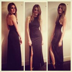 Beautiful @becchinch, who stars in our #JarloHighSummer 2015 campaign, in black Orla maxi dress. She's stunning!