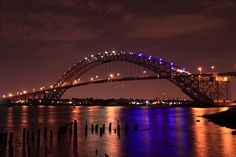 The Bayonne Bridge is the fourth-longest steel arch bridge in the world, and was the longest in the world at the time of its completion.  It connects Bayonne, New Jersey with Staten Island, New York, spanning the Kill Van Kull.
