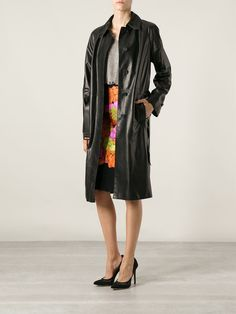 Bottega Veneta leather trench 7700