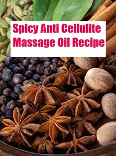 "Break up cellulite with this mix of essential oils and spot treatment massage. This recipe is slightly ""spicy"", it yields a very light tingly and warm sensation when applied.... grab this recipe here .. http://beautytips.givingtoyou.com/spicy-anti-cellulite-massage-oil-recipe"