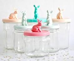 Jars for nursey; hair things, wipes, etc Organiser Une Baby Shower, Pots, Sweet Paul, Gris Rose, Baby Party, Cool Diy, Easter Crafts, Easter Bunny, Gourmet Recipes
