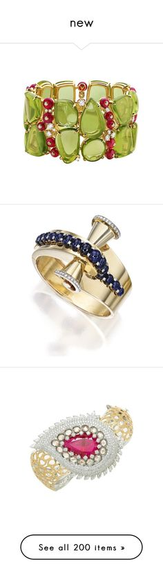 """new"" by biju-nicklace ❤ liked on Polyvore featuring jewelry, bracelets, bulgari bracelet, bulgari jewellery, bracelet jewelry, bracelet bangle, bulgari, tanzanite jewelry, clasp bracelet and pink sapphire jewelry"