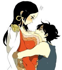 Luffy e Boa Hancock