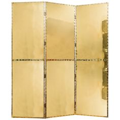 Beautiful Polished Three-Panel Brass Screen   From a unique collection of antique and modern screens at https://www.1stdibs.com/furniture/more-furniture-collectibles/screens/