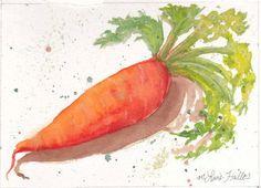 Simply Carrot LOVE THIS print of original Watercolor 5x7